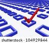 Three Dimension Check Mark - stock vector