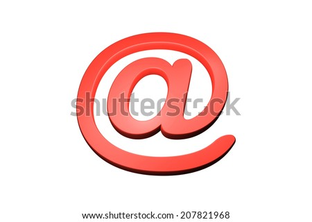 Three dimension sign of e-mail  - stock photo