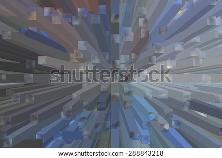 Three-dimensional Abstract background