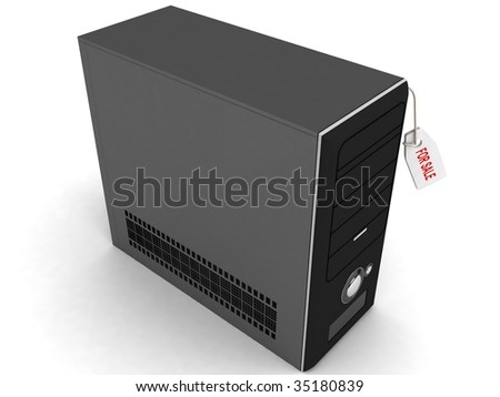 three dimensional cpu for sale - stock photo