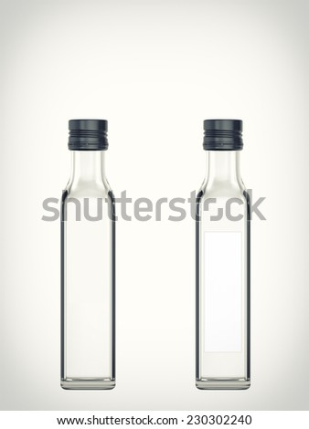 Three-dimensional illustration of a empty bottle isolated on a white background - stock photo