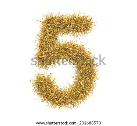 Three-dimensional illustration of letter of hay isolated on white background - stock photo