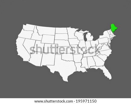 Maine Map Stock Images RoyaltyFree Images Vectors Shutterstock - Maine in usa map