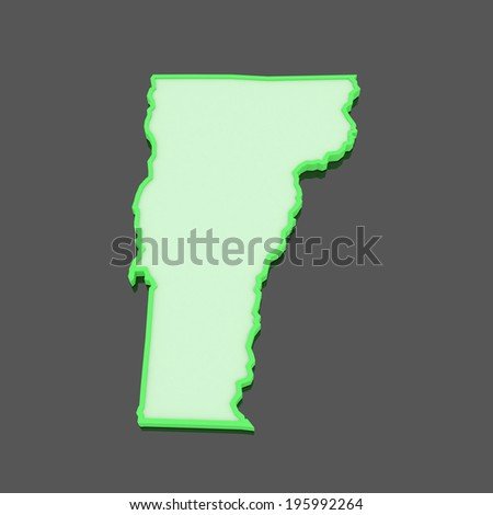 Map Us State Vermont Stock Illustration Shutterstock - Usa map vermont