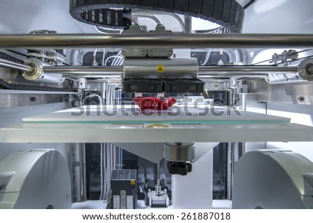 Three dimensional printing machine  - stock photo