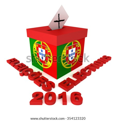 Three dimensional render of concept for Portugal elections 2016