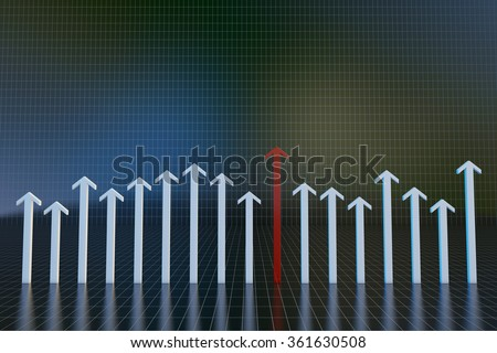 Three dimensional space and arrow dimensional space with arrows Three - stock photo