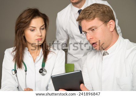 three doctors consulting