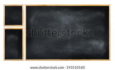Three Empty Blackboard - stock photo