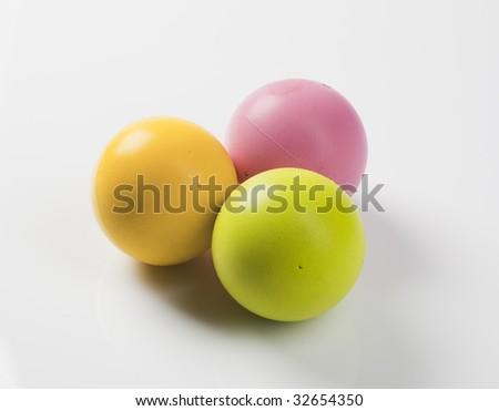 Three foam balls - stock photo