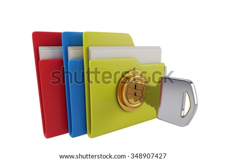 Three folders, lock files, protect files safety.