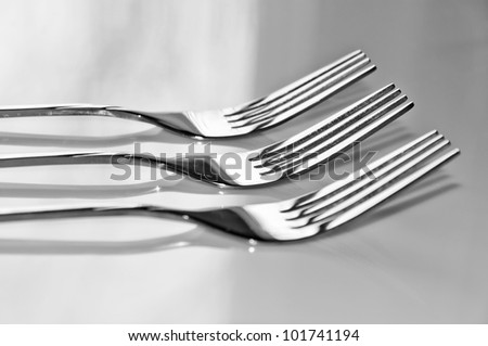 three forks close-up