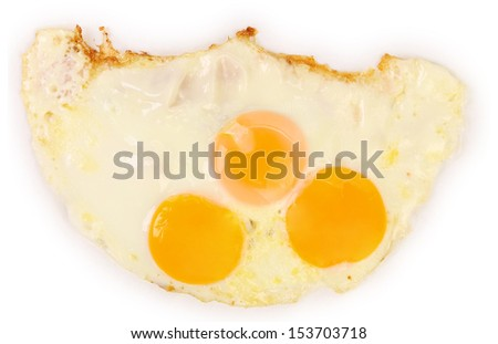 Three fried eggs