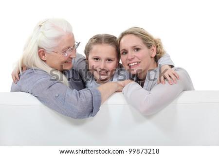 Three generations of women - stock photo