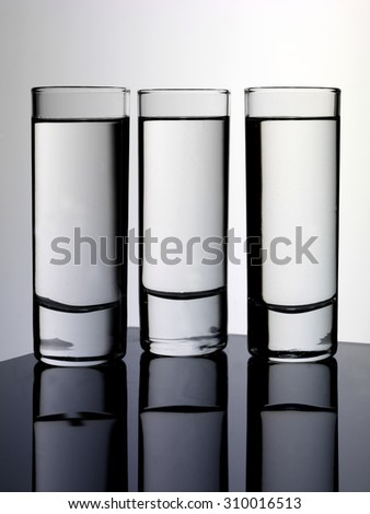 THREE GLASSES OF SCHNAPPS