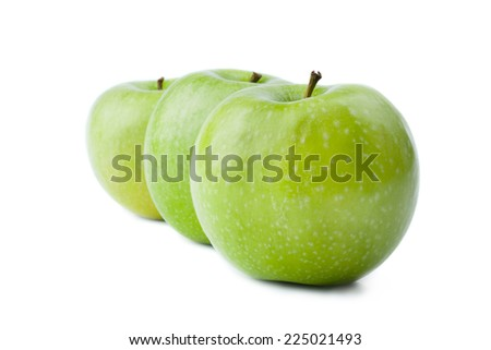 Three Green Apple - Clipping Path Inside