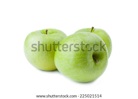 Three Green Apple - Clipping Path Inside - stock photo