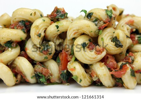 Three Herb Pesto with Pasta