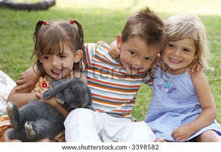 three kids - stock photo