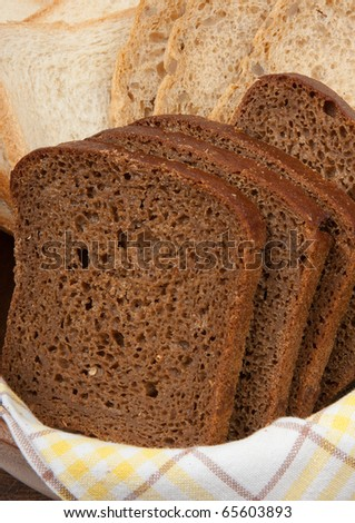 Three kind of bread - stock photo