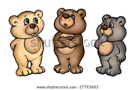 three little cartoon teddy bears stand stock illustration 37793683 rh shutterstock com pictures of cartoon teddy bears pictures of cartoon bees