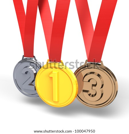 Three Medals - stock photo