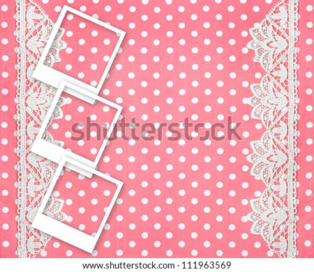 Three Picture Photo Frames Over Pink Stock Photo (Download Now ...