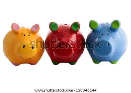 Three piggy banks