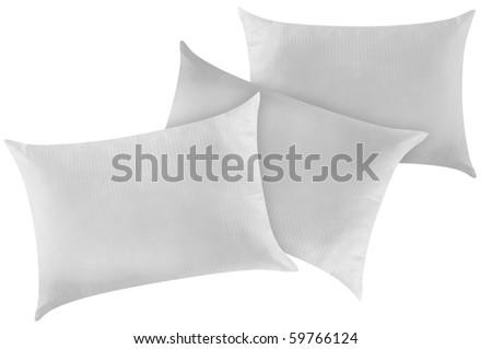 Three pillows. - stock photo