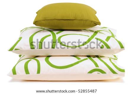 Three pillows. Isolated - stock photo