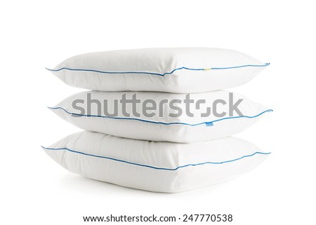 Three pillows stacked.