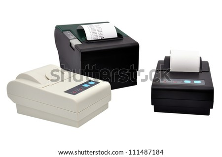 three printer for fiscal cash register and check