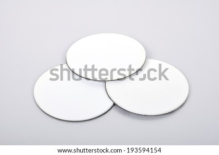 three round rfid tags and transponders - stock photo