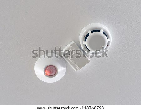 Three sensors of security system - stock photo