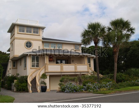 Three story beach house found in Florida. - stock photo
