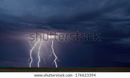 Three Strikes - stock photo