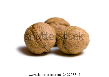Three tasty walnuts for a nutritious snack