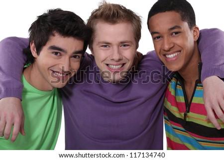 Three teenage friends - stock photo
