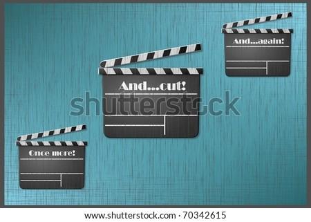 Three times a movie - stock photo