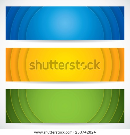Three universal banner style web element - stock photo