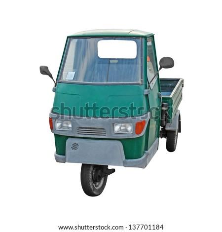 Three wheeler isolated on white background - stock photo