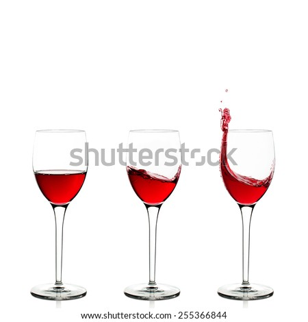 Three wineglasses - stock photo