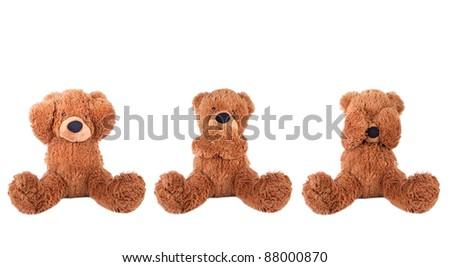 Three wise bear - stock photo