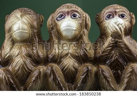 Three Wise Monkeys - stock photo