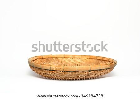 threshing basket made from bamboo,asean thailand - stock photo
