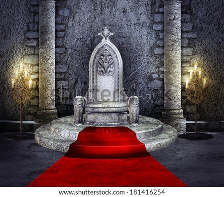 Throne Room - stock photo