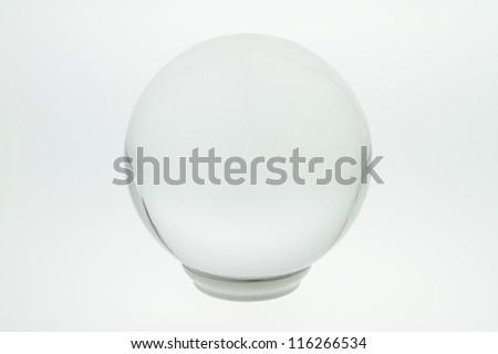 Through a crystal ball, you can see into the future. - stock photo