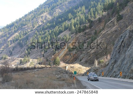 Through the mountains - stock photo