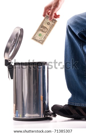 Throwing Away Your Money - stock photo
