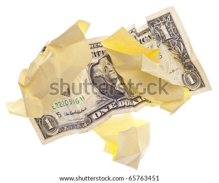 Throwing Money Away Business Economy Concept Isolated on White with a Clipping Path.
